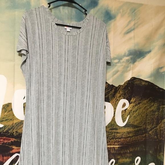 LuLaRoe Dresses & Skirts - 💥Price Firm💥Lularoe Ribbed Grey/Green Maria